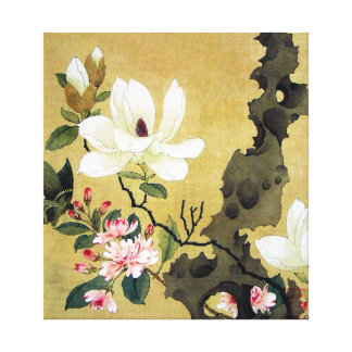 Chen Hongshou Magnolia and Erect Rock Canvas Print