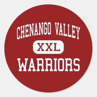 Chenango Valley - Warriors - Junior - Binghamton Classic Round Sticker