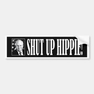 cheney_shutup_bmprstkr_blk bumper sticker