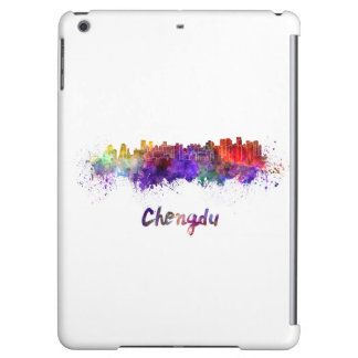 Chengdu skyline in watercolor iPad air covers