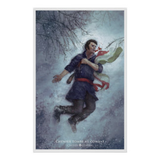 Chénier falls to the combat poster