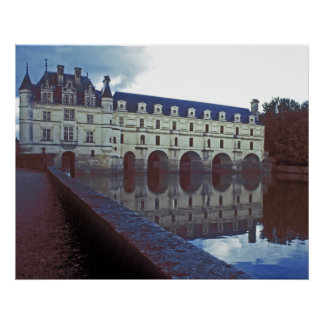 Chenonceau Castle and Moat Poster