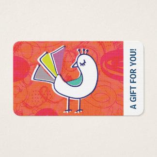 Chèque-cadeau, certificat-prime, D2-052115 Cartes De Visite