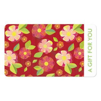 Chèque-cadeau, certificat-prime, D3-052115 Carte De Visite Standard