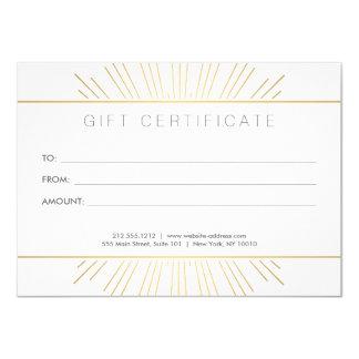 Chèque-cadeau élégant de salon de rayon de soleil carton d'invitation  11,43 cm x 15,87 cm