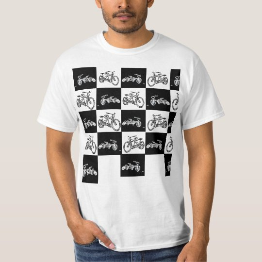 chequerboard Bicycles (Ska 2 tone specials style T-Shirt
