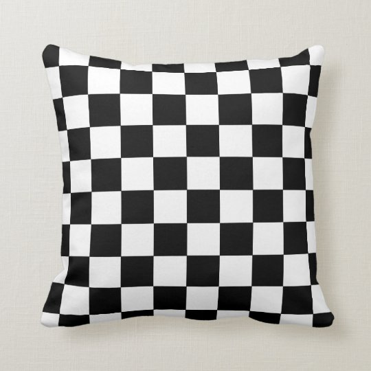 Chequerboard Racing Accent Pillow