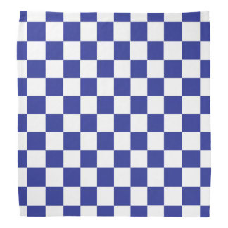 Chequered Blue and White Bandana