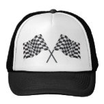chequered cross flags hats