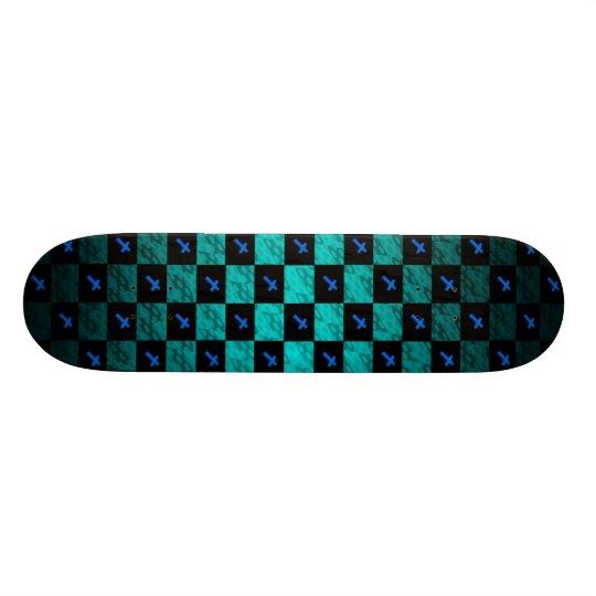 Chequered Cross Skateboard