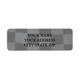 Chequered Flag Address Label