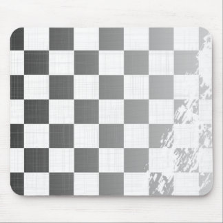 Chequered Flag Grunge Mouse Pad