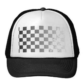 Chequered Flag Grunge Trucker Hat