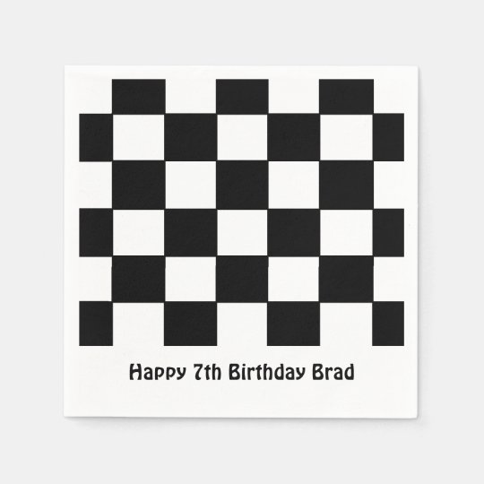 """Chequered Flag"" Paper Napkins"