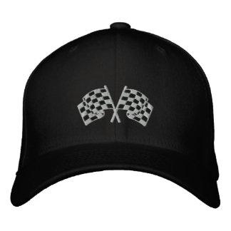 Chequered flag racing motorsport black cap