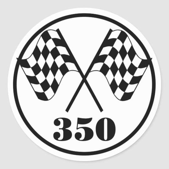 Chequered Flags Classic Round Sticker