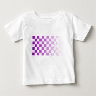Chequered Purple Grunge Baby T-Shirt