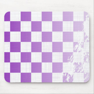 Chequered Purple Grunge Mouse Pad