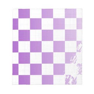 Chequered Purple Grunge Notepad