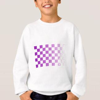 Chequered Purple Grunge Sweatshirt