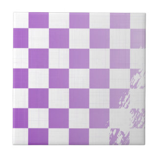 Chequered Purple Grunge Tile