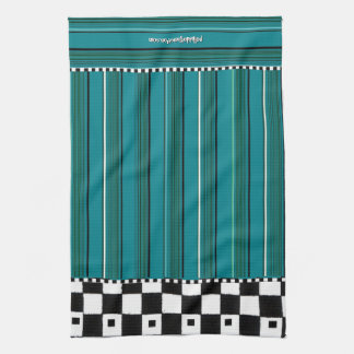 Chequered Stripe Kitchen Towel