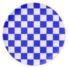 Chequered - White and Blue Plate
