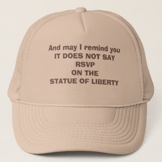 Cher Against Immigration Ban Trucker Hat