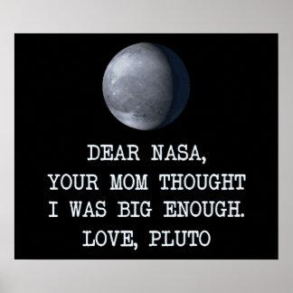 Cher amour Pluton de la NASA Posters