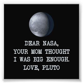 Cher amour Pluton de la NASA Impression Photographique