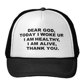 Cher chapeau de Dieu Casquettes De Camionneur