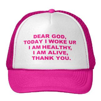 Cher chapeau de Dieu des femmes Casquette De Camionneur