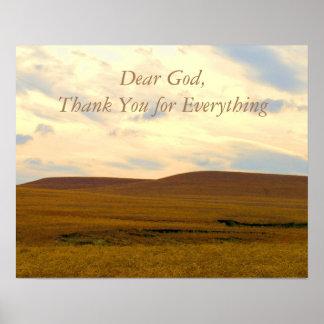 Cher Dieu, affiche de récupération