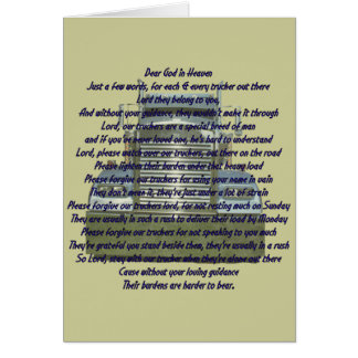 Cher Dieu dans le ciel Carte De Vœux