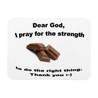 Cher Dieu, je prie pour que la force fasse la droi Magnet En Vinyle