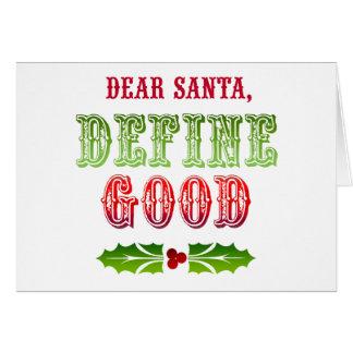 Cher Père Noël définissent bon Carte De Vœux