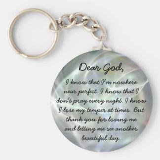 Cher porte - clé de chrétien de Dieu Porte-clé Rond