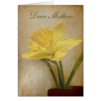Chère mère joyeux anniversaire carte de vœux