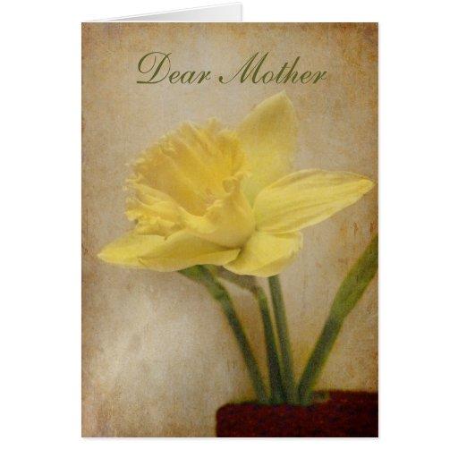 Chère mère, joyeux anniversaire carte de vœux