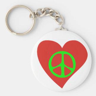Chère paix peace love porte-clés