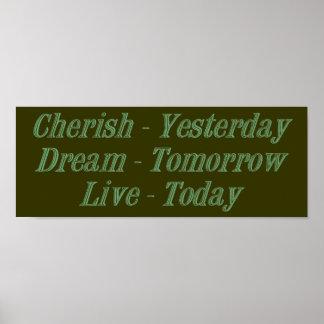 Cherish green poster