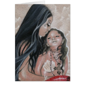 Cherish Mermaid and Child Card