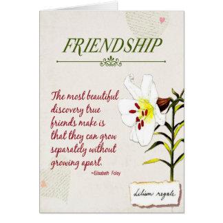 Cherish our Friendship poem Card