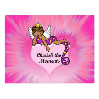 Cherish The Moments Ethnic Angel Post Card