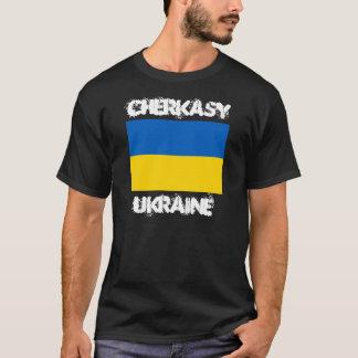 Cherkasy, Ukraine with Ukrainian flag T-Shirt