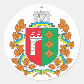 Chernivtsi Oblast COA, Ukraine Classic Round Sticker