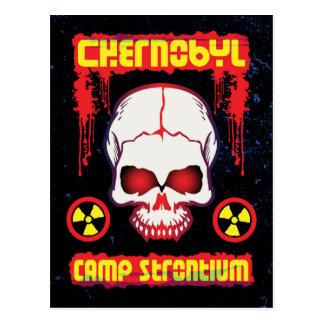 Chernobyl Strontium Skull Postcard