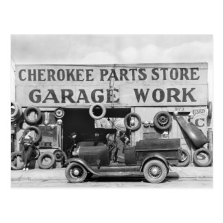 Cherokee Auto Parts: 1936 Postcard