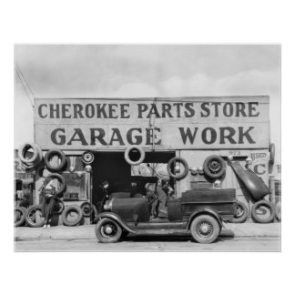 Cherokee Auto Parts 1936 Poster
