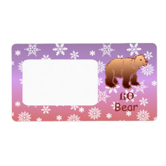 Cherokee Bear Custom Shipping Label